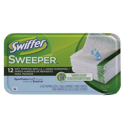 Sweeper Wet Cloth Refills with Open Window Fresh Scent (12-Count) (12-Pack)