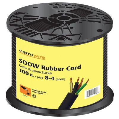 100 ft. 8/4 SOOW Cord - Black