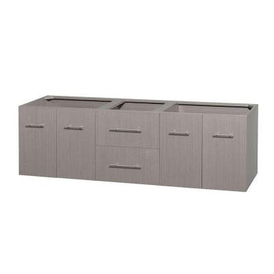 Centra 71 in. Double Vanity Cabinet Only in Gray Oak