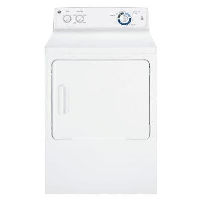 6.0 cu. ft. Gas Dryer in White