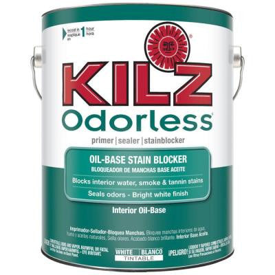 ODORLESS 1-gal. White Oil-Based Interior Primer, Sealer and Stain-Blocker