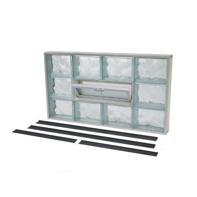 33.375 in. x 37.375 in. NailUp2 Vented Wave Pattern Glass Block Window