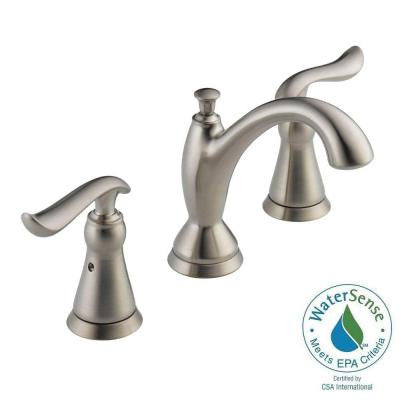 Linden 8 in. Widespread 2-Handle High-Arc Bathroom Faucet in Stainless Featuring Diamond Seal Technology