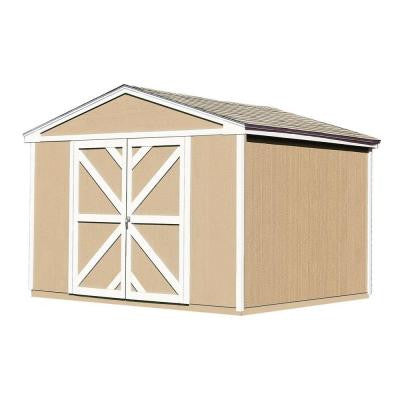 Somerset 10 ft. x 8 ft. Wood Storage Building Kit with Floor