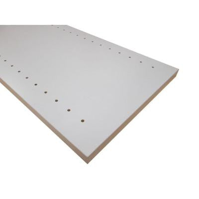 3/4 in. x 16 in. x 48 in. White Thermally-Fused Melamine Adjustable Side Panel