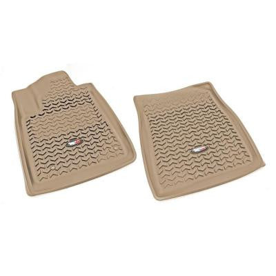 Floor Liner Front Pair Tan 2008-2011 Toyota Tundra and Sequoia