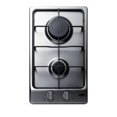 12 in. Gas Cooktop in Stainless Steel with 2 Burners