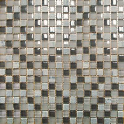 Arctic Cloud 12 in. x 12 in. x 8 mm Glass Stone Mesh-Mounted Mosaic Tile (10 sq. ft. / case)