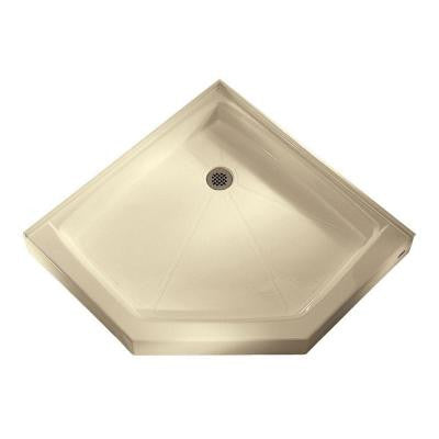38-1/16 in. x 38-1/8 in. Triple Threshold Shower Base in Bone