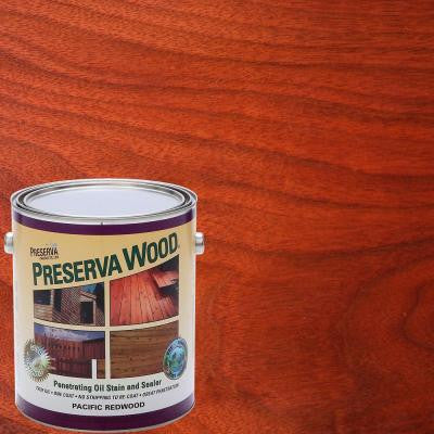 1 gal. Oil-Based Pacific Redwood Penetrating Stain and Sealer