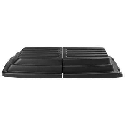 1 cu. yd. Black Tilt Truck Hinged Dome Lid