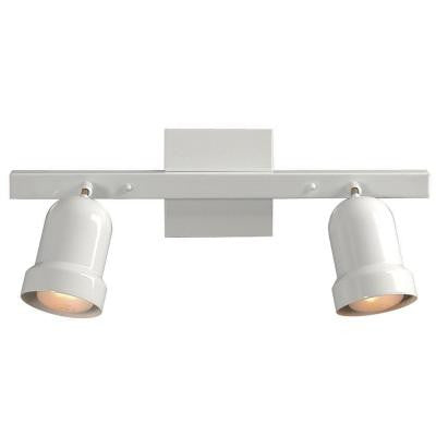 Negron 2-Light White Track Lighting with Directional Heads