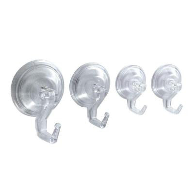 Power-Lock Suction 4-Hook Combo Pack in Clear