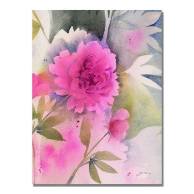 24 in. x 32 in. Peony Canvas Art