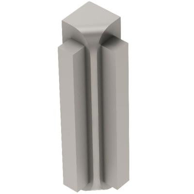 Rondec-Step Satin Nickel Anodized Aluminum 1/2 in. x 2 in. Metal 90 Degree Inside Corner
