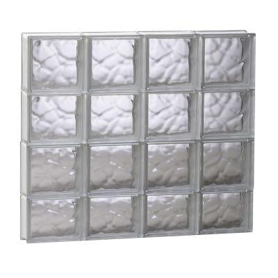 31 in. x 29 in. x 3.125 in. Non-Vented Wave Pattern Glass Block Window