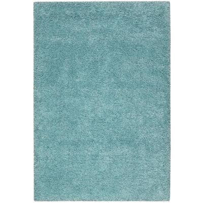 Amore Aqua 3 ft. 11 in. x 5 ft. 11 in. Area Rug