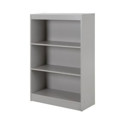 Axess 3-Shelf Bookcase in Soft Gray