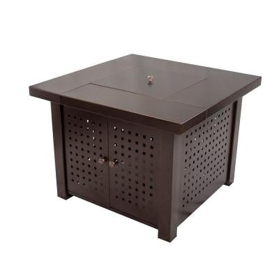 Eden 38 in. Square Gas Fire Pit Table