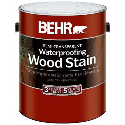 1-gal. Redwood Semi-Transparent Waterproofing Wood Stain
