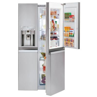 21.5 cu. ft. Counter Depth Side By Side Refrigerator in Stainless Steel with Door-In-Door Design