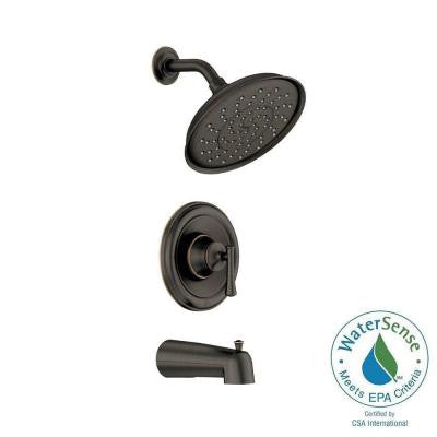 Ashville 1-Handle Tub and Shower Faucet in Mediterranean Bronze