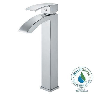 Single Hole 1-Handle Bathroom Vessel Faucet in Chrome