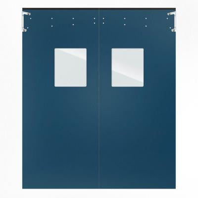 Optima 1/4 in. x 96 in. x 96 in. Single-Ply Blue Impact Door