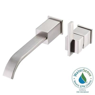 Sirius 1-Handle Wall-Mount Lavatory Faucet Trim Only in Brushed Nickel