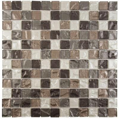 Lunar Grey 11-3/4 in. x 11-3/4 in. x 4 mm Glass Mosaic Tile
