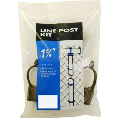 Black 1-5/8 in. Line Post Fittings Kit