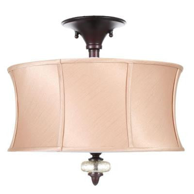 Chambord Collection 3-Light Semi-Flush Mount Weathered Copper Ceiling Fixture