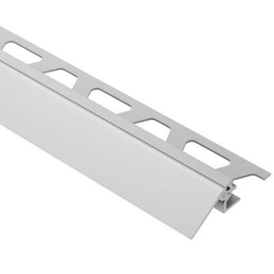 Reno-V Satin Anodized Aluminum 3/8 in. x 8 ft. 2-1/2 in. Metal Reducer Tile Edging Trim