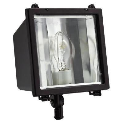 Commercial Grade 150-Watt Outdoor Bronze Metal Halide Flood Light