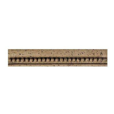 Fashion Accents Noce Bead 2-1/4 in. x 13 in. Travertine Chair Rail Wall Tile