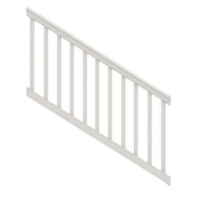 6 ft. x 36 in. Vinyl White Premier Stair Rail with Square Balusters