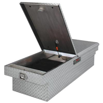 21 in. Aluminum Mid Lid Full Size Crossover Tool Box with Gearlock in Black