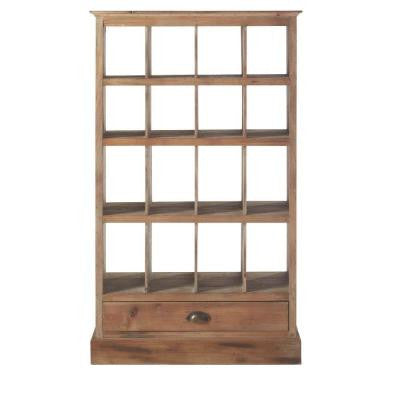 Oliver 28 in. W x 48 in. H Natural Wood 16-Cube Organizer