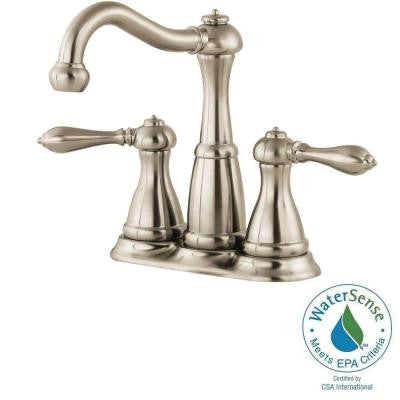 Marielle 4 in. Minispread 2-Handle High-Arc Bathroom Faucet in Brushed Nickel