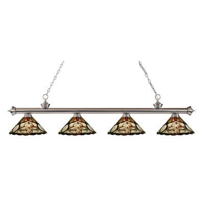 Coastal Nickel 4-Light Brushed Nickel Island Light