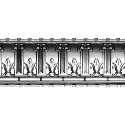 9-1/2 in. x 4 ft. x 9-1/2 in. Clear Lacquer Steel Nail-up/Direct Application Tin Ceiling Cornice (6-Pack)