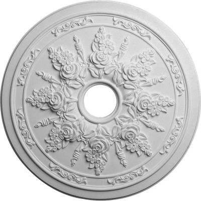 23-5/8 in. Rose and Ribbon Ceiling Medallion