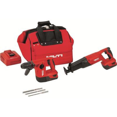 18-Volt Lithium-Ion Cordless Rotary Hammer Drill/Reciprocating Saw Combo Kit (2-Tool)