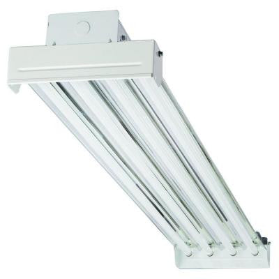 4-Light Fluorescent Industrial Hanging Fixture