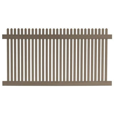 4 ft. x 8 ft. Cedar Grove Chestnut Brown Vinyl Picket Fence Panel