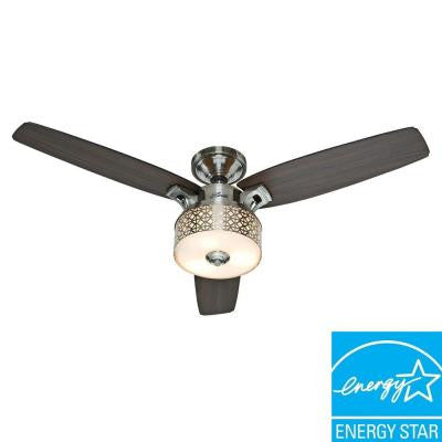 Camille 52 in. Brushed Chrome Indoor Ceiling Fan