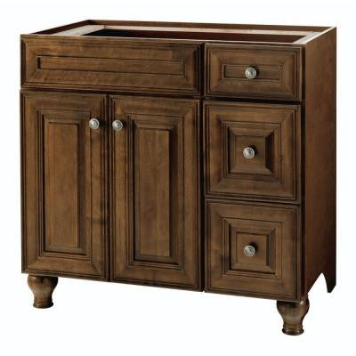 Templin 36 in. Vanity Cabinet Only in Coffee
