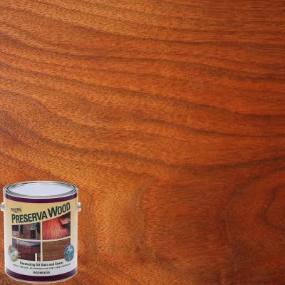 1-qt. Oil-Based Pacific Redwood Penetrating Stain and Sealer