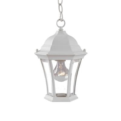 Brynmawr Collection Hanging Lantern 1-Light Outdoor Textured White Light Fixture