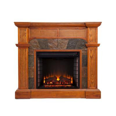 Avery 45.5 in. Convertible Electric Fireplace in Mission Oak